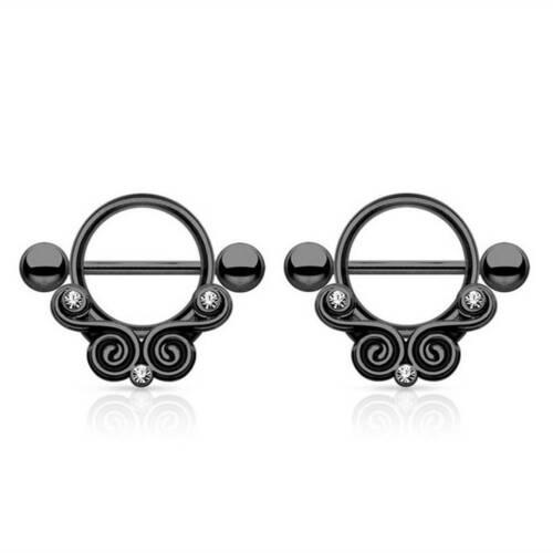 Nipple Rings Shield Bar Barbell Piercings Stainless Steel Fashion Nipple Rings