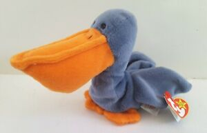 Vntg-TY-Beanie-Baby-1996-SCOOP-The-Pelican-Style-4107-Ret-OrgTag-W-Free-Ship