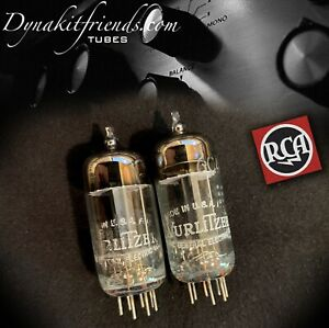 6C4-RCA-WURLITZER-Gray-Plate-O-Getter-Matched-Pair-Tubes-Made-in-USA-039-59