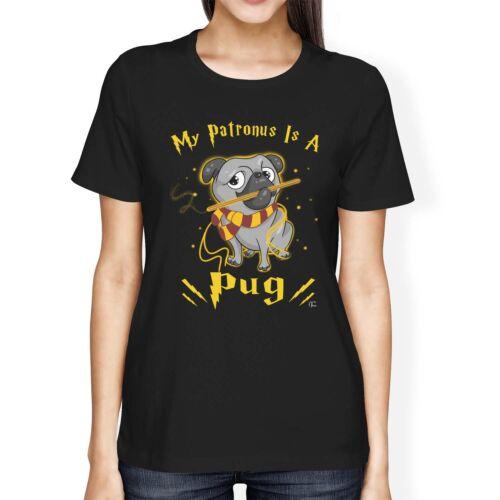 1Tee Womens Loose Fit My Patronus Is A Pug Dog T-Shirt