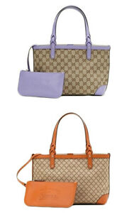 c95a3778f8b2 Image is loading NEW-Authentic-GUCCI-CRAFT-GG-Canvas-Diamante-Tote-