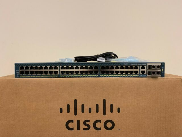 Cisco WS-C4948-10GE-S 48 Port Gigabit +10GB Switch w/ X2-10GB-SR Single AC 15.0
