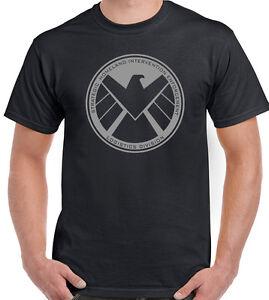 Marvels-Agents-of-SHIELD-Hombre-Superheroe-Camiseta-The-Vengadores-Iron-Man