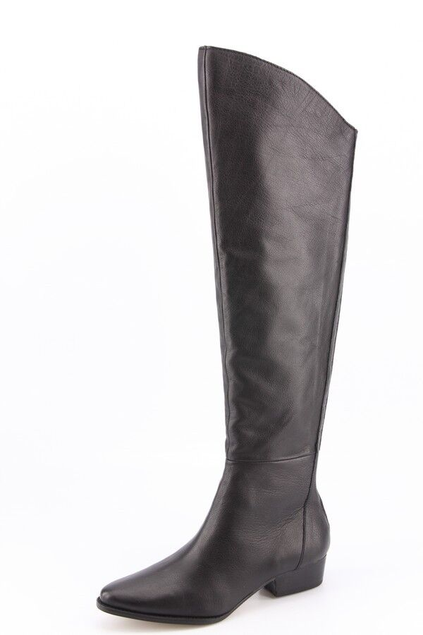 $280 NEW Dolce Vita Meris Black Leather Over-The-Knee Boots sz 6.5 Tall Riding