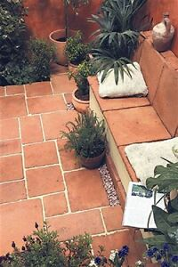 Image Is Loading Terracotta Tiles Mixed Size Paving Mediterranean Feel 10m2
