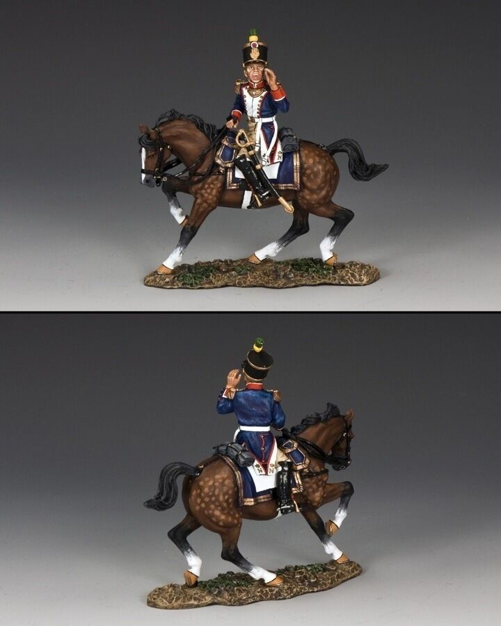 KING AND COUNTRY Mounted French Voltigeur Officer Shouting NA273