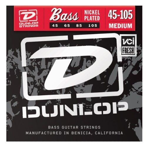 DUNLOP DBN45105 MEDIUM GAUGE 45-105 BASS GUITAR STRINGS STRING STRING SET NEW