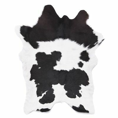 NEW NSW Leather Co Calf Animal Hide Rug, Black/White