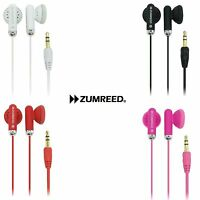 Zumreed Headphones Earbuds - Black, Pink, Red Or White (brand New)