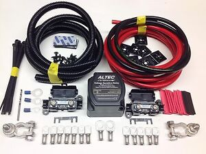 5mtr-Split-Charge-Relay-Kit-12v-140amp-Intelligent-M-Power-Relay-110amp-Cables