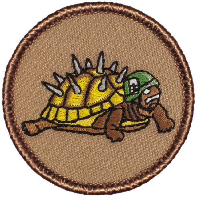 Cool Boy Scout Patrol Patches - Armored Turtle! (#134)