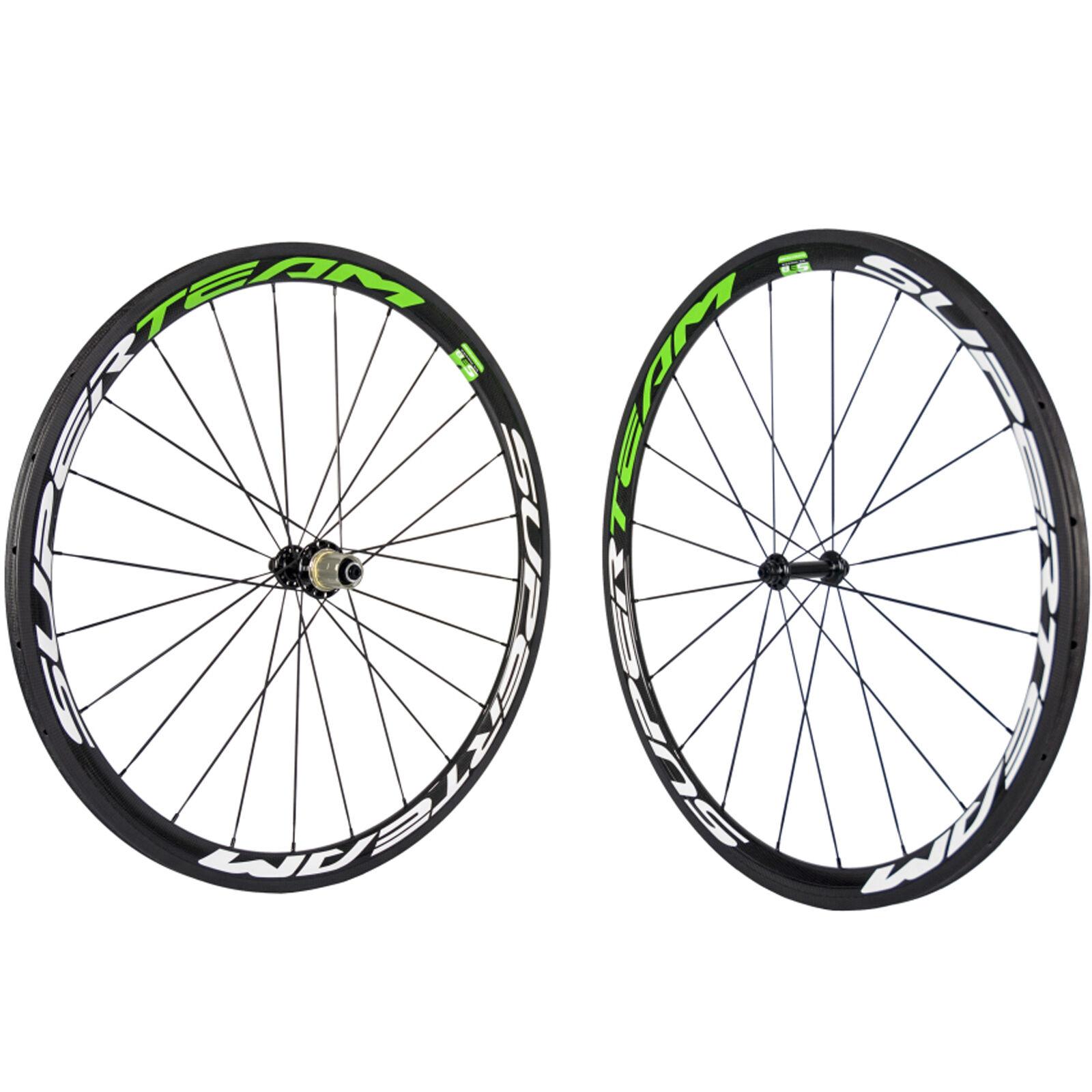 1 Set Of Road Bike Tubular Carbon Wheels R39 Glossy 38mm Carbon Bicycle Wheelset