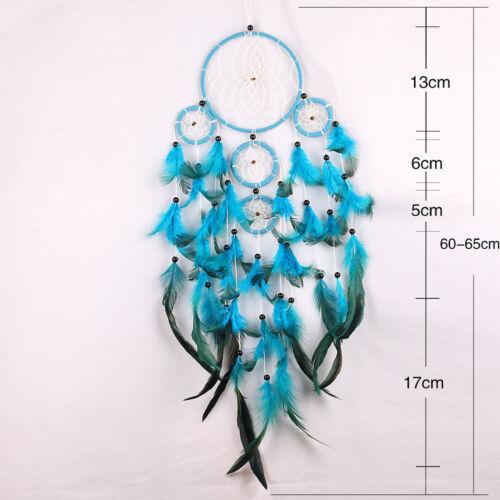 Lace Heart Hollow LED White Dreamcatcher Boho Dream Catcher Feathers Vintage DIY