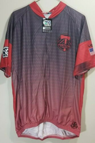 XX /_ Grand A2 MLS Portland Timbers Homme primaire à manches courtes Vomax Jersey