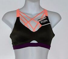 Victoria's Secret VSX Sport Lightweight Strappy Sport Bra Forest Night 34B NWT