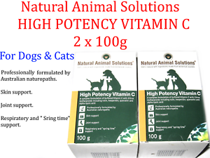 2-X-100g-Natural-Animal-Solutions-HIGH-POTENCY-VITAMIN-C-For-Dogs-Cats