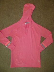 NWT Victoria/'s Secret Pink Bling Heart Varsity Hoodie XS S M