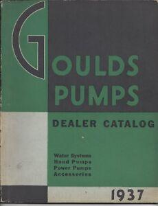 Details about 1937 Goulds Pumps Dealer Catalog