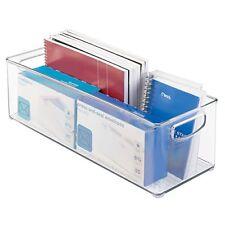 Office Supplies, Cabinet, Deep Drawer Storage Organizer Bin - Large, Clear