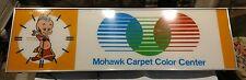 Vintage Mohawk Carpet Color Center Advertising Neon Clock shop sign works!