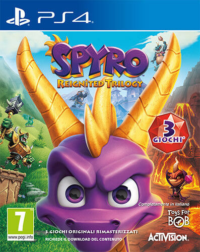 Spyro Reignited Trilogy (3 games) PS4 Playstation 4 88237IT ACTIVISION BLIZZARD