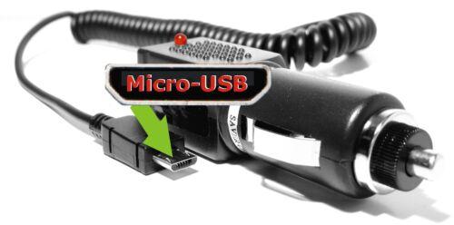 Safer Charger micro USB cargador cargador mechero 12//24v 1a