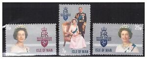 S23011-Isle-Of-Man-1977-MNH-New-Silver-Jubilee-3v