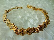 Vintage Damascene Bracelet Spain 7 1/2 inch