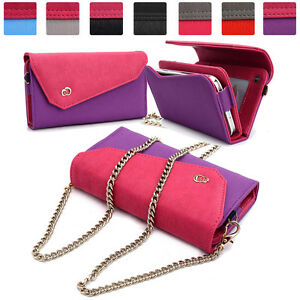 Womens-Link-Wallet-Case-amp-Crossbody-Clutch-Cover-for-Smart-Cell-Phones-CRWL8