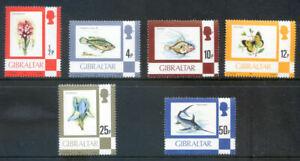 Gibraltar 1981-2 7v chalky paper Definitives fine unmounted mint(2020/12/11/#07)