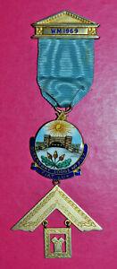 Masonic Past Master's Jewel Queensway Lodge No 7157 Birmingham silver hallmark