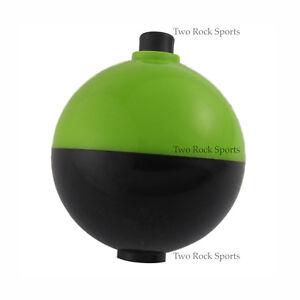 3-250-Bulk-Pack-2-034-inch-50-8mm-ROUND-Fishing-Bobber-Float-Green-amp-Black