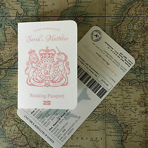 Boarding Pass Wedding Invitations.Details About Passport And Airline Ticket Boarding Pass Travel Wedding Invitation Sample