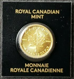 2021 Canada 50c 1 gram Gold Maple Leaf in Assay Card