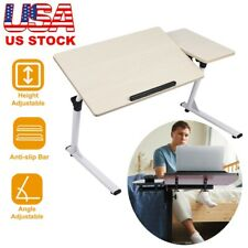 Adjustable Height Stand Up Desk Laptop Computer Table Bed Side Reading Table
