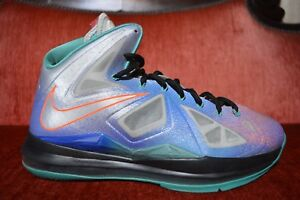 fbe8095b26d90b Nike LeBron X 10 Re-Entry Pure Platinum Size 9.5 541100 008 Grey ...