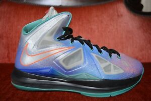 ff845ad98759 Nike LeBron X 10 Re-Entry Pure Platinum Size 9.5 541100 008 Grey ...