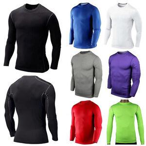 Herren-Langarm-Funktionsshirt-Kompressionsshirt-Funktionsunterwaesche-Sports-Hemd