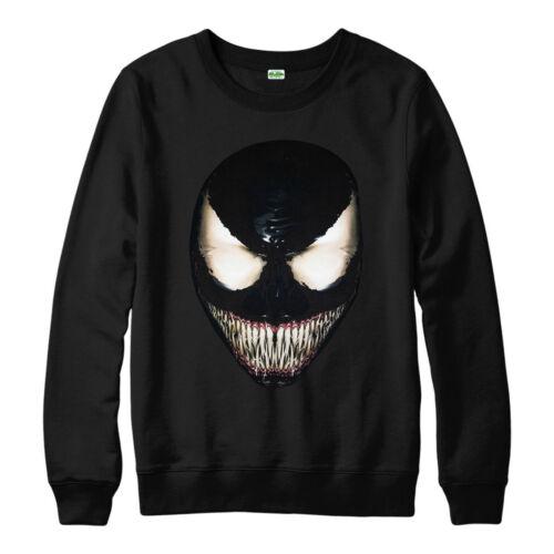Marvel Venom Jumper Spider Man Villain Tom Hardy Unisex Adult Kid Jumper Top