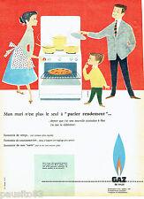 PUBLICITE ADVERTISING 076  1957  le Gaz de Ville par Camps