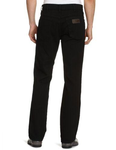 Overdye Noir Pantalon Jeans Wrangler Pour Extensible Neuf Texas Hommes 80zqPBwz