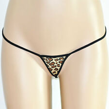 Leopardo V-string thong,thong,g-string, Sexy Lencería, Tanga Leopardo, libre de envío
