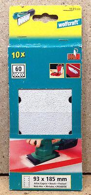 Wolfcraft Haftschleifstreifen K40 120-93 x 185 mm 10 Stück 80