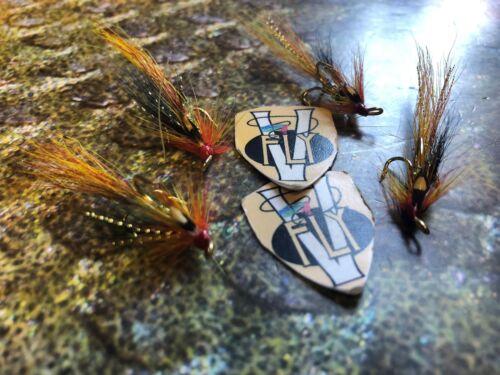 4 V FLY Ultimate Basso ACQUA CALDA Gold Cascata Salmone Mosche Alti Taglia 10 /& 12