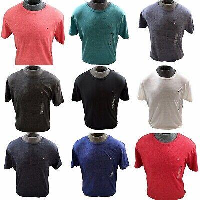 TOMMY HILFIGER DENIM Basic Red Marl Flag Crew Neck T-Shirt Tee Top M L XL 2XL