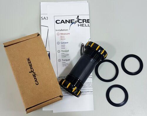 Cane Creek BAI0086 BSA Threaded 34.8x68mm Hellbender Bottom Bracket-Black Gold