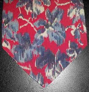 quantità limitata prima i clienti nuova selezione Details about Valentino Cravatte Tie Silk Red Blue Gray Flowers Abstract  Floral NIB t3129