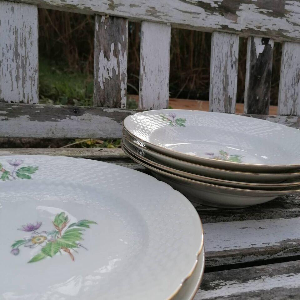 Porcelæn, Tallerkener, B&g Frigga anemone