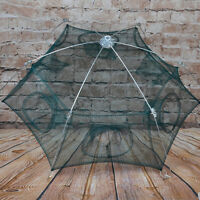 6 Sides Folded Fishing Net Cast Mesh Trap Cage Dip Catch Shrimp Crab Baits Net