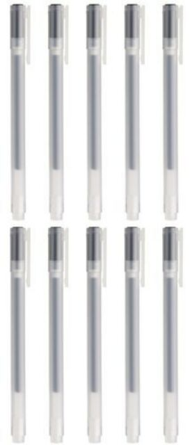 Moma Muji Gel Ink Ball Point Pen, 0.38-mm, Black, 10 Pcs